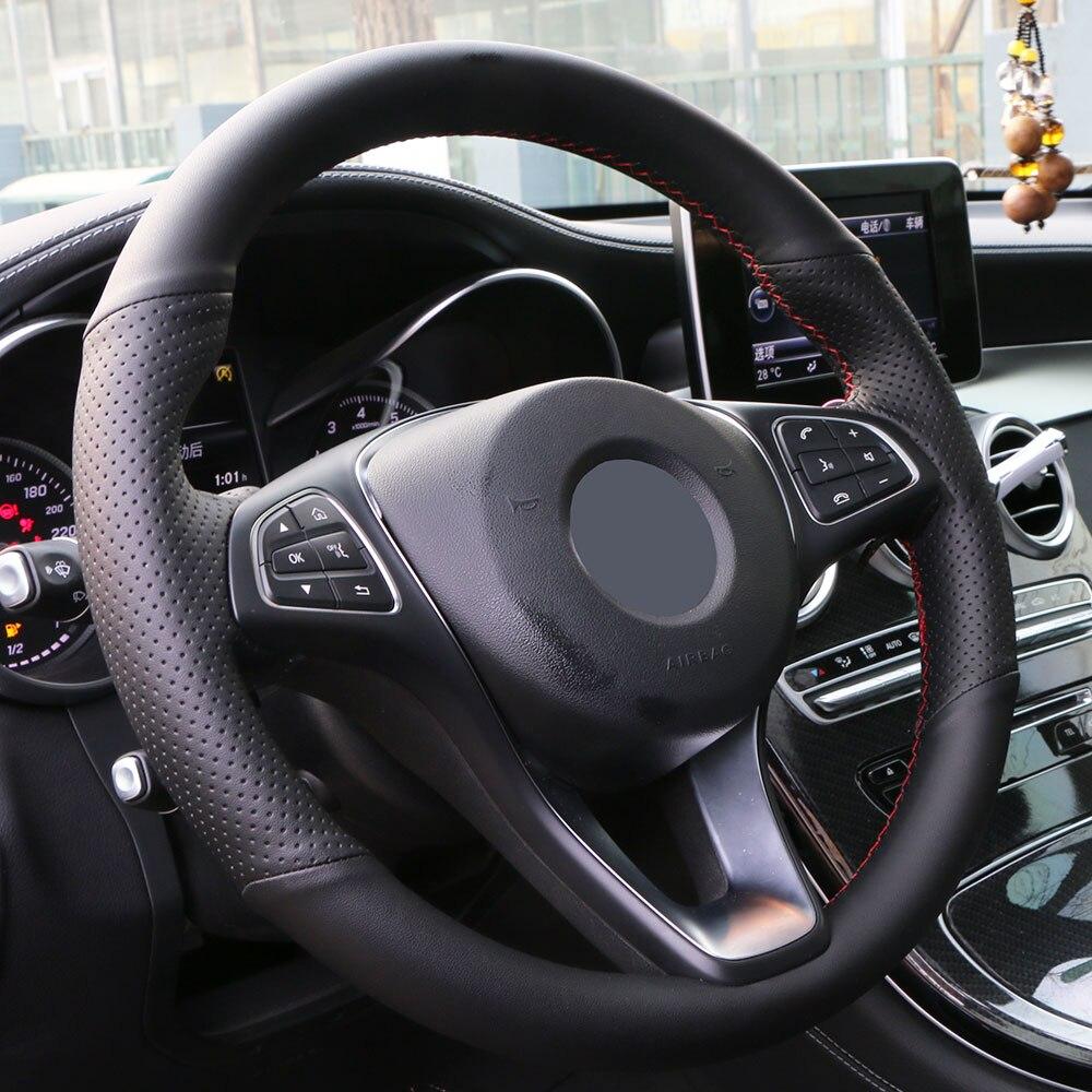 Серая оплетка на руль Toyota Corolla