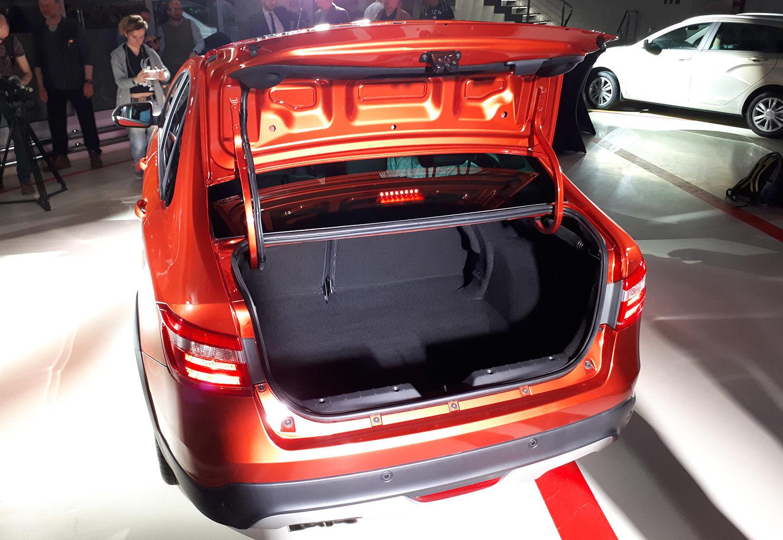 Багажник автомобиля Lada Vesta седан