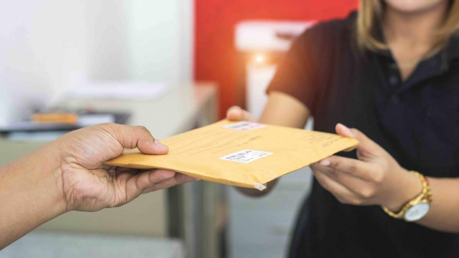 Вручение письма