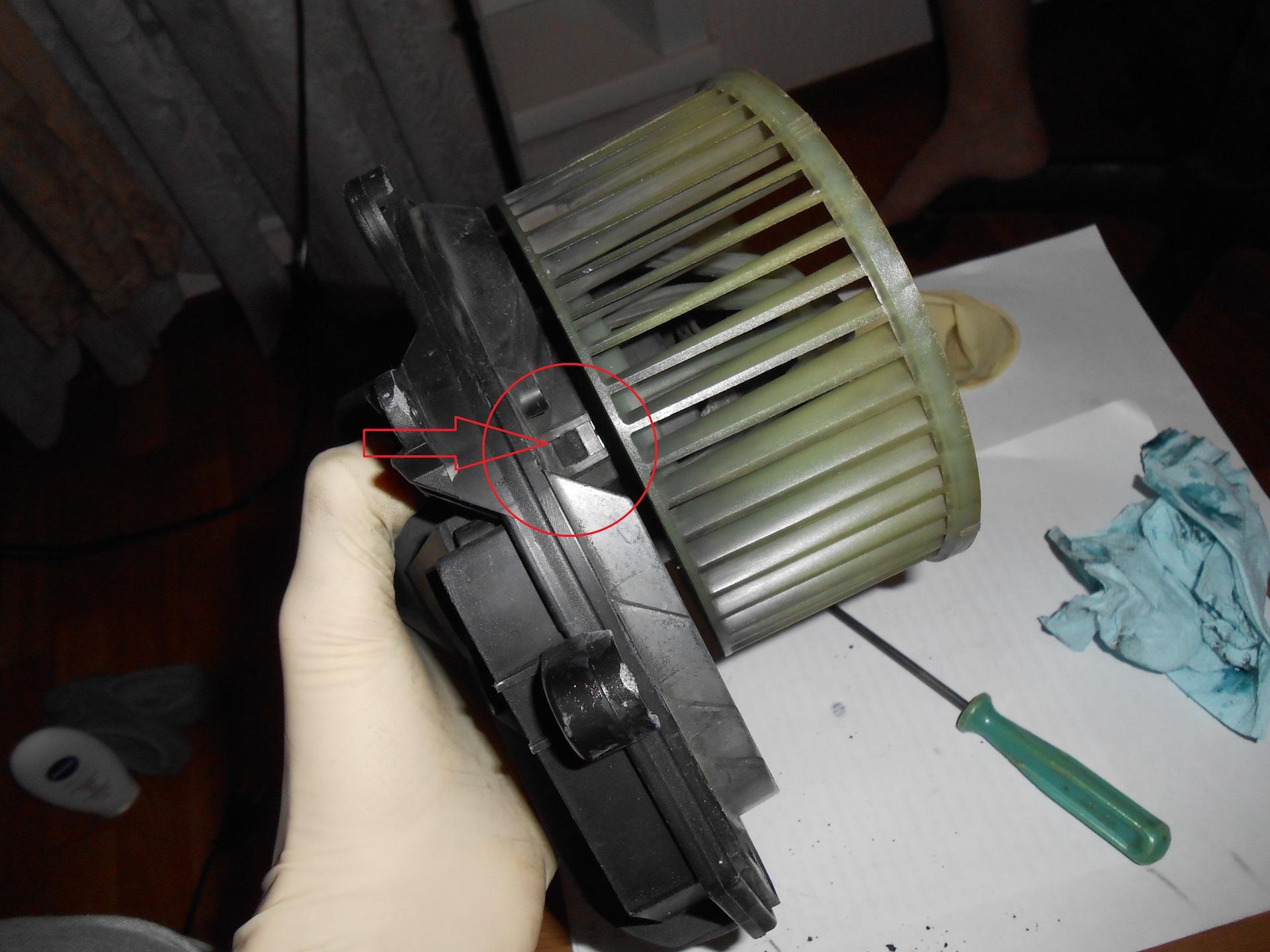 Замена щетки вентилятора