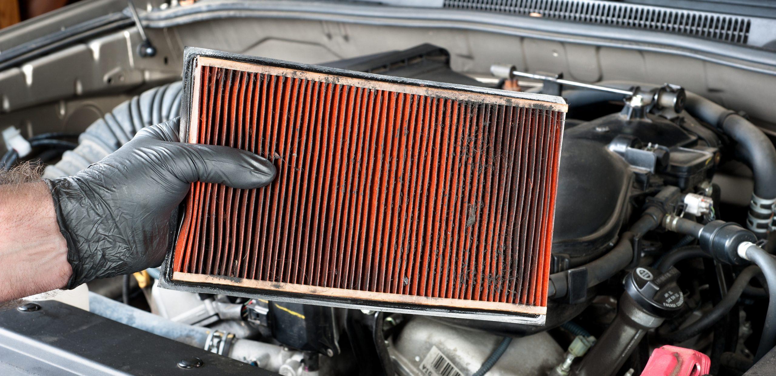 Засоренный воздушный фильтр