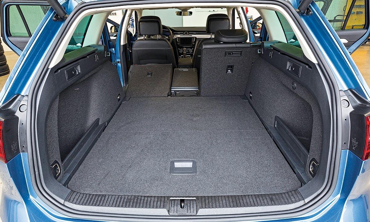 Размер багажника со сложенными сиденьями