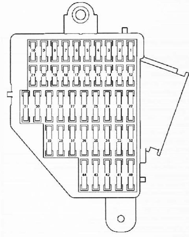 Схема правого модуля со стороны пассажира