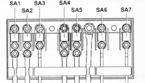 Схема главного блока подкапотного модуля