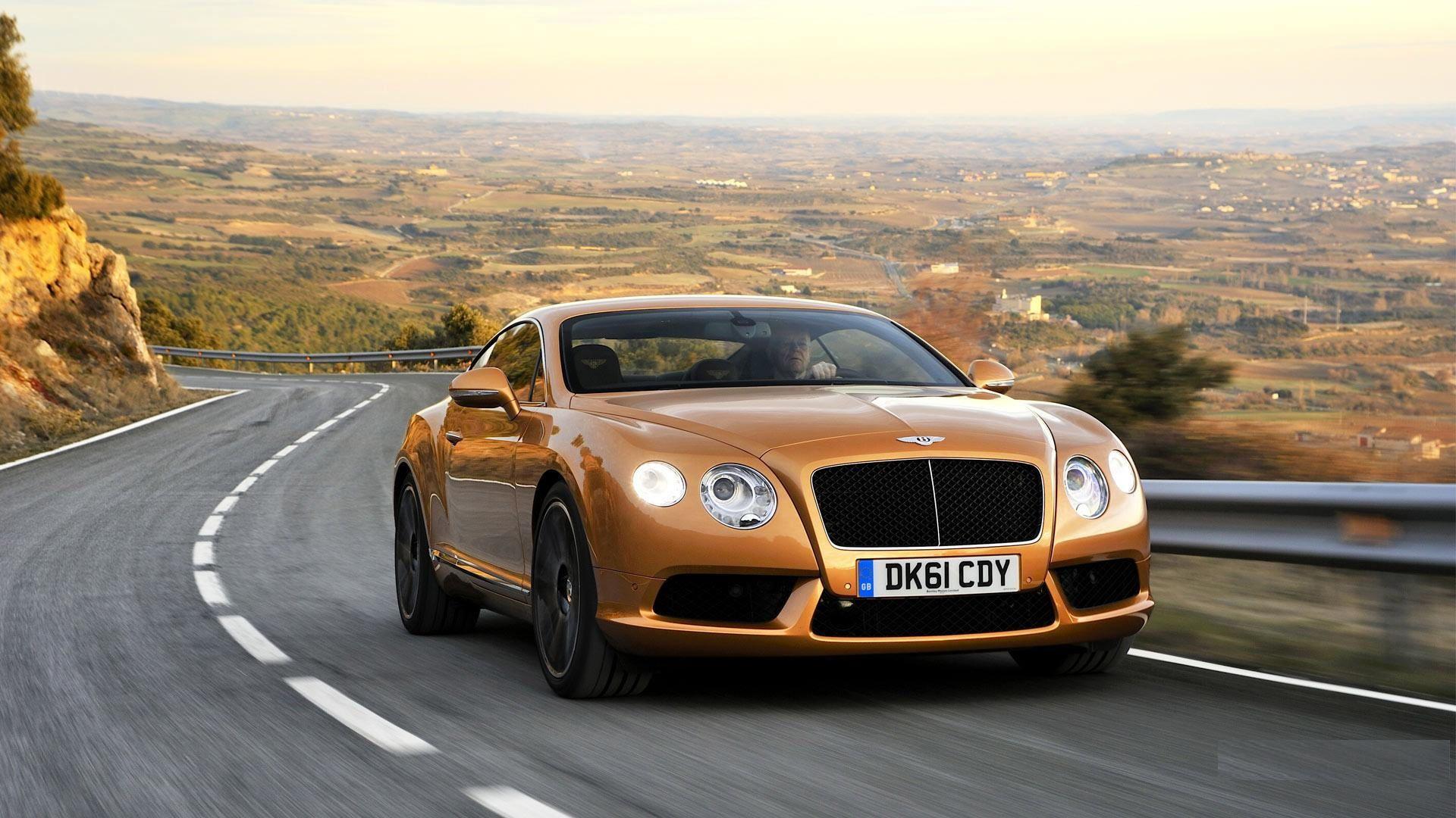 Golden Bentley Continental GT