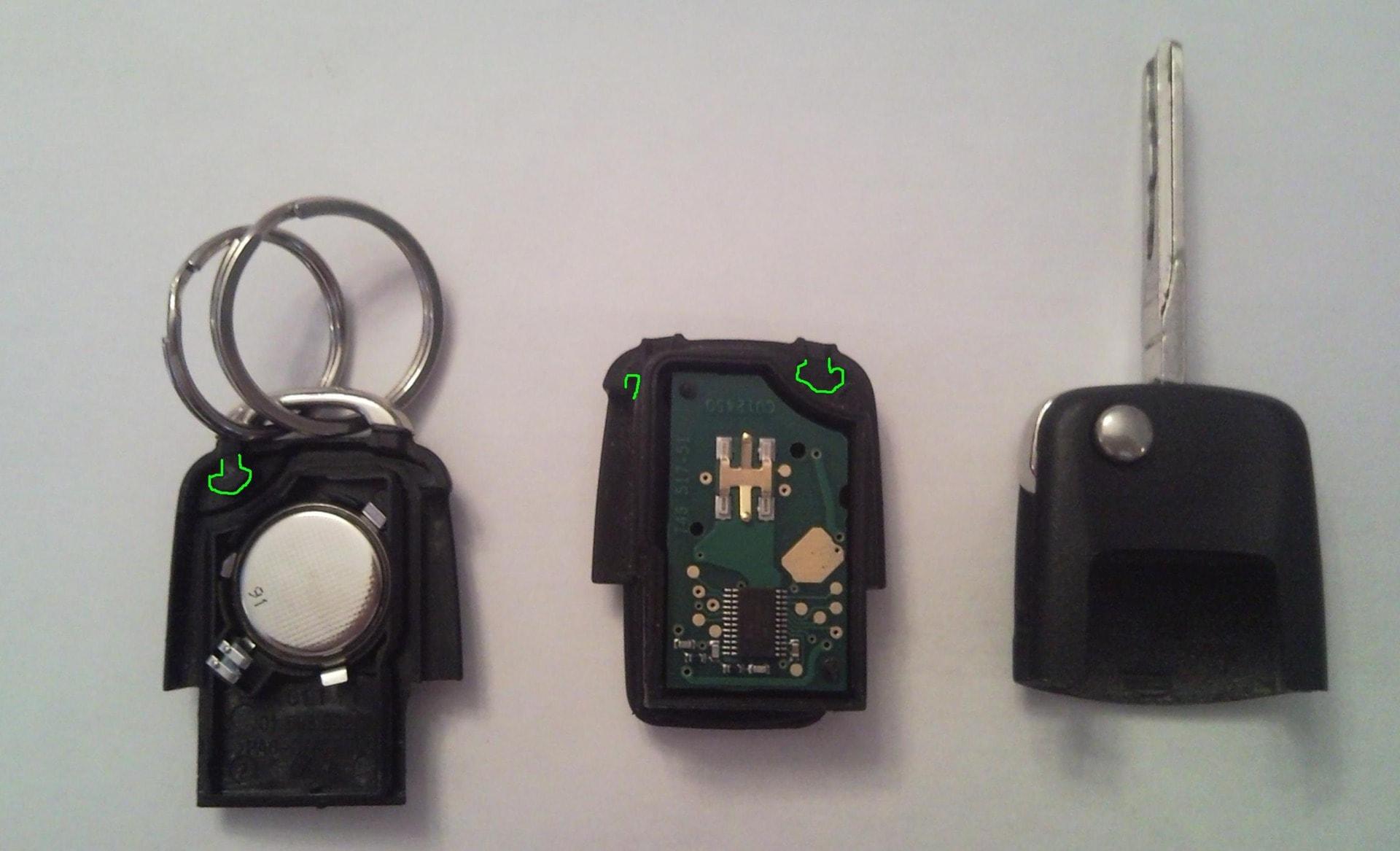 Замена батарейки в ключе