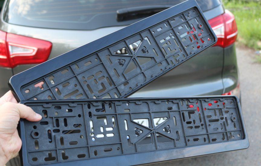 как поменять рамку номера на автомобиле