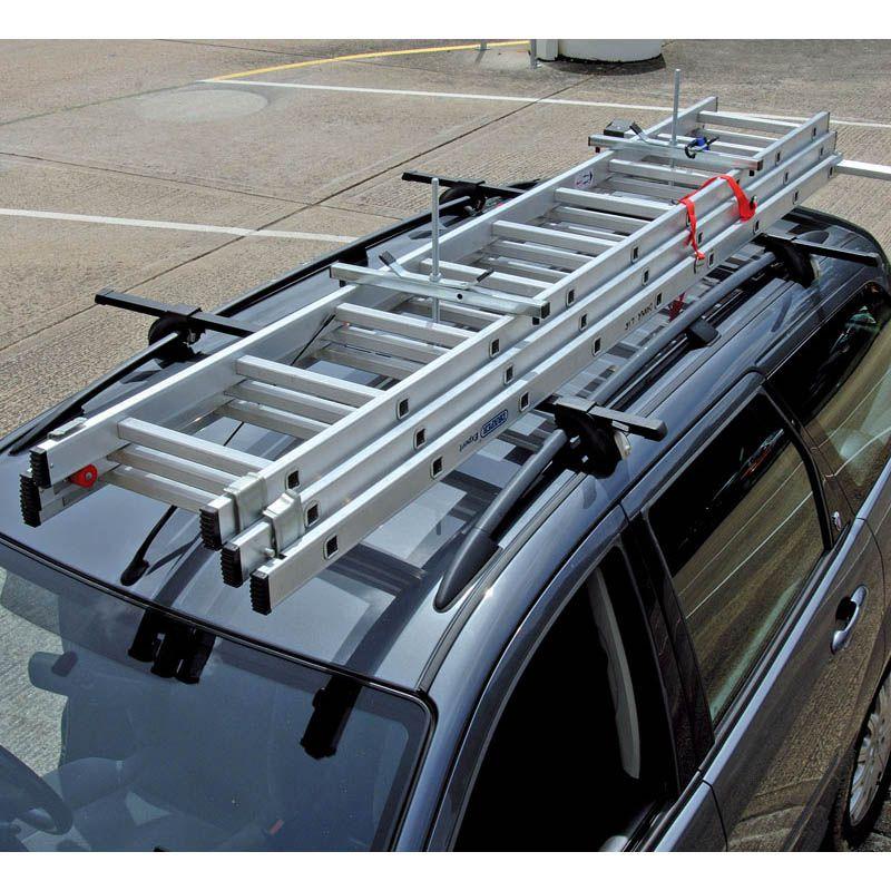 Как закрепить лестницу на багажнике автомобиля