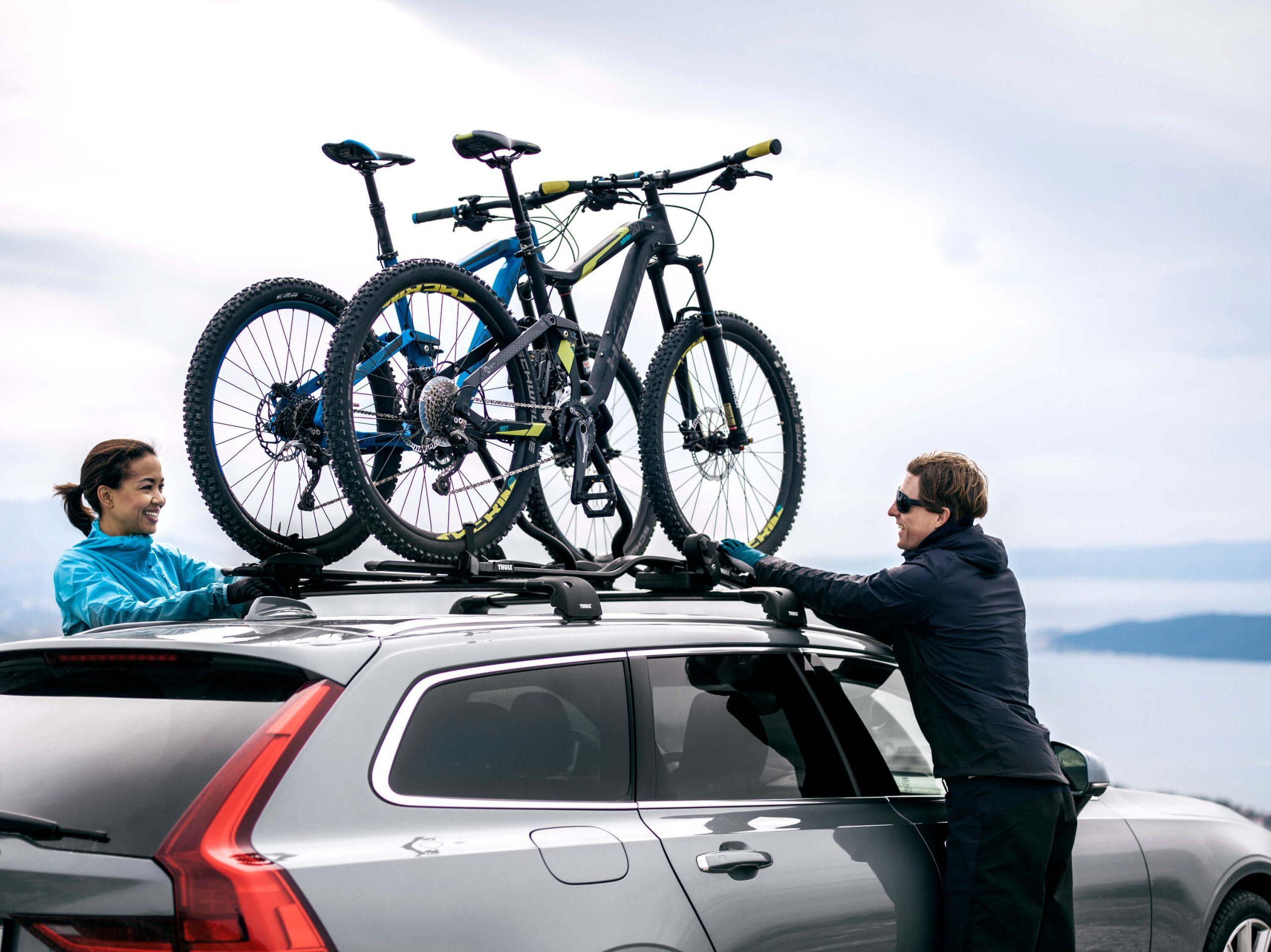 Крепление велосипеда на машину