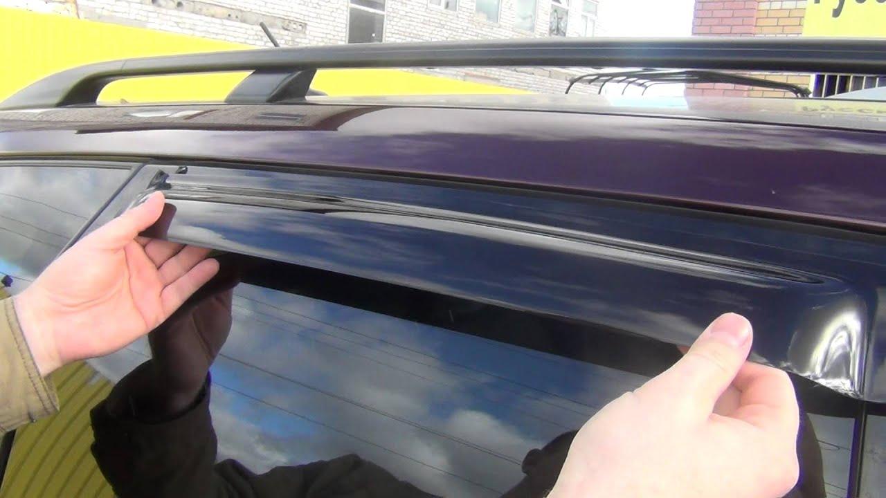 Крепление ветровиков на двери автомобиля