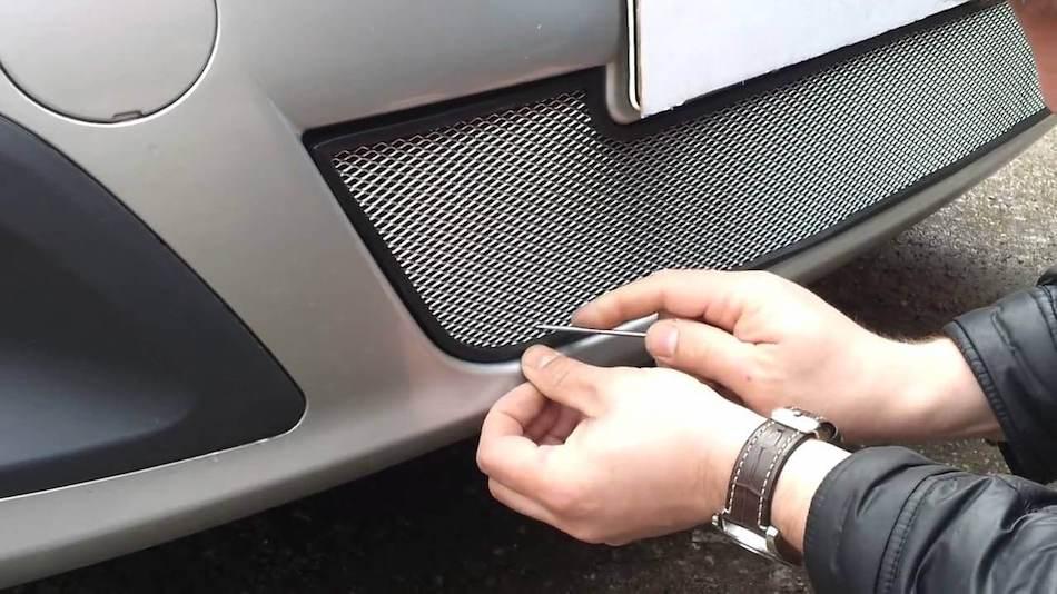 Установка сетки на авто