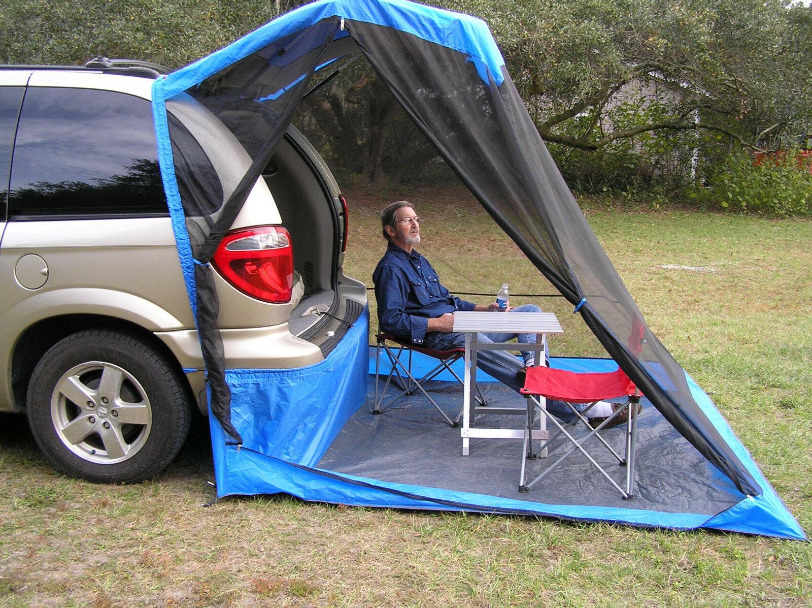 тент на багажник автомобиля для отдыха на природе