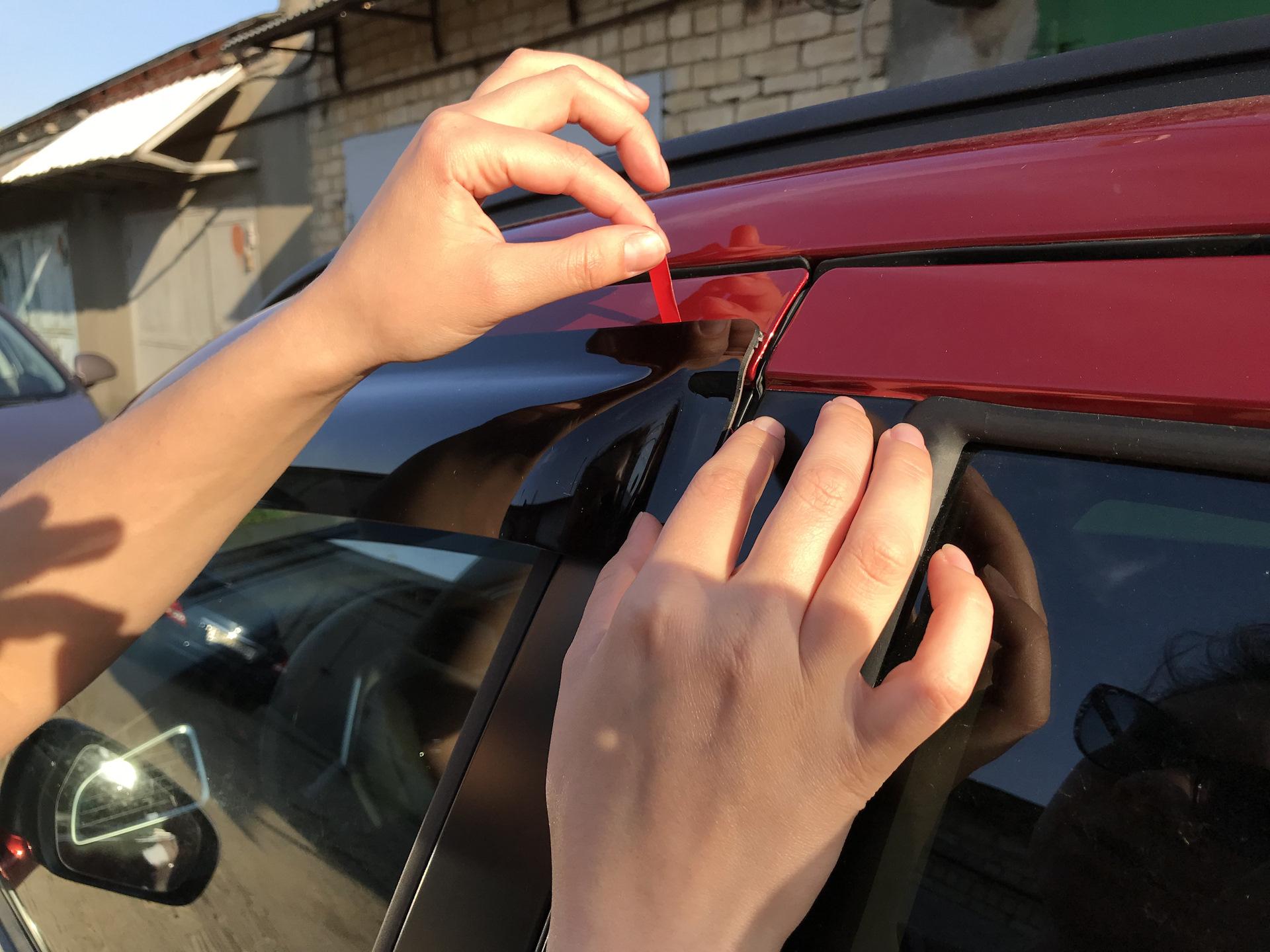 Установка дефлектора на авто