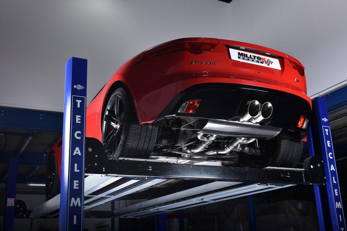 Выхлоп Jaguar F-Type V8 S