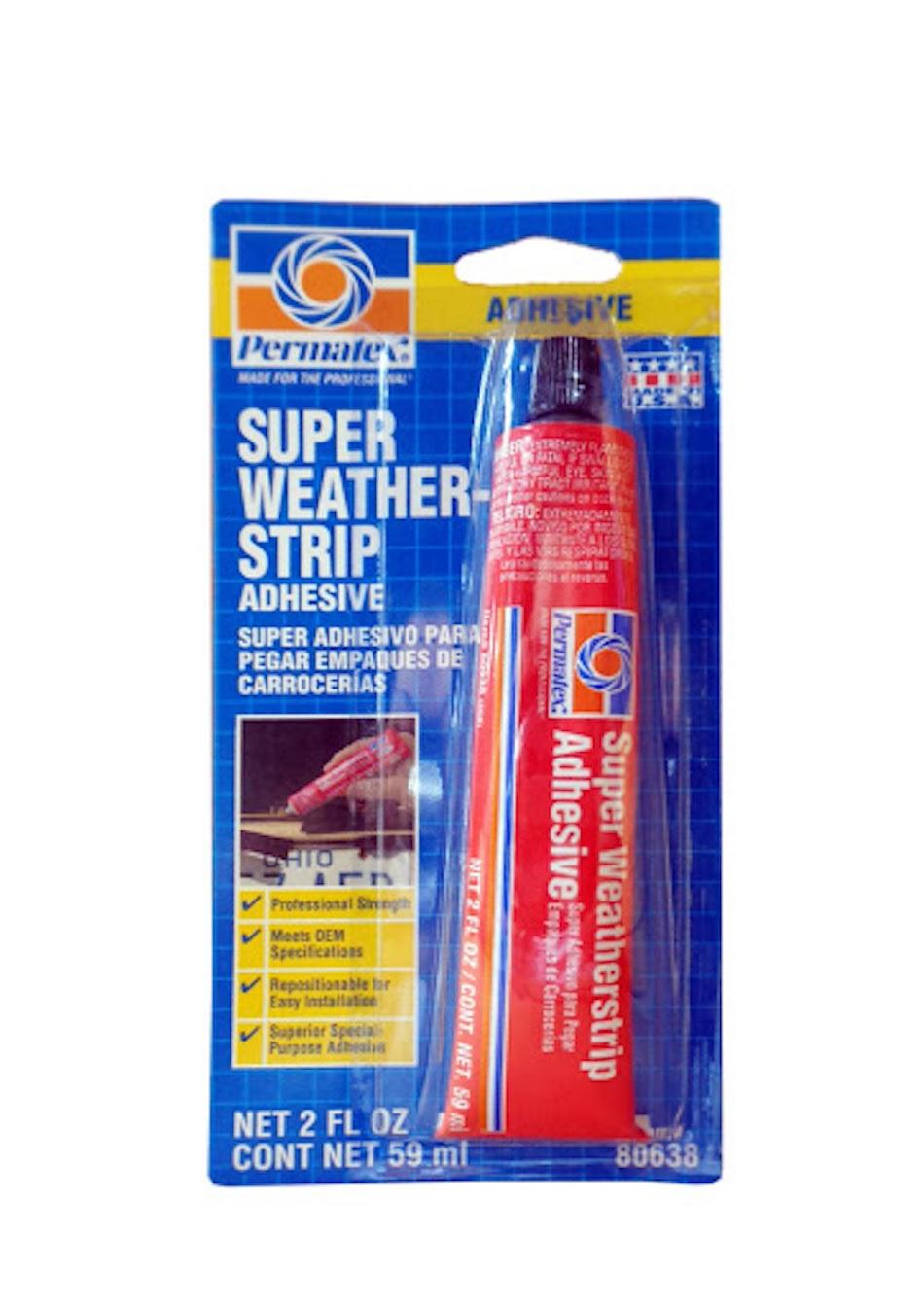универсальный клей для ремонта автомобиля PERMATEX Black Super Weatherstrip Adhesive 81850