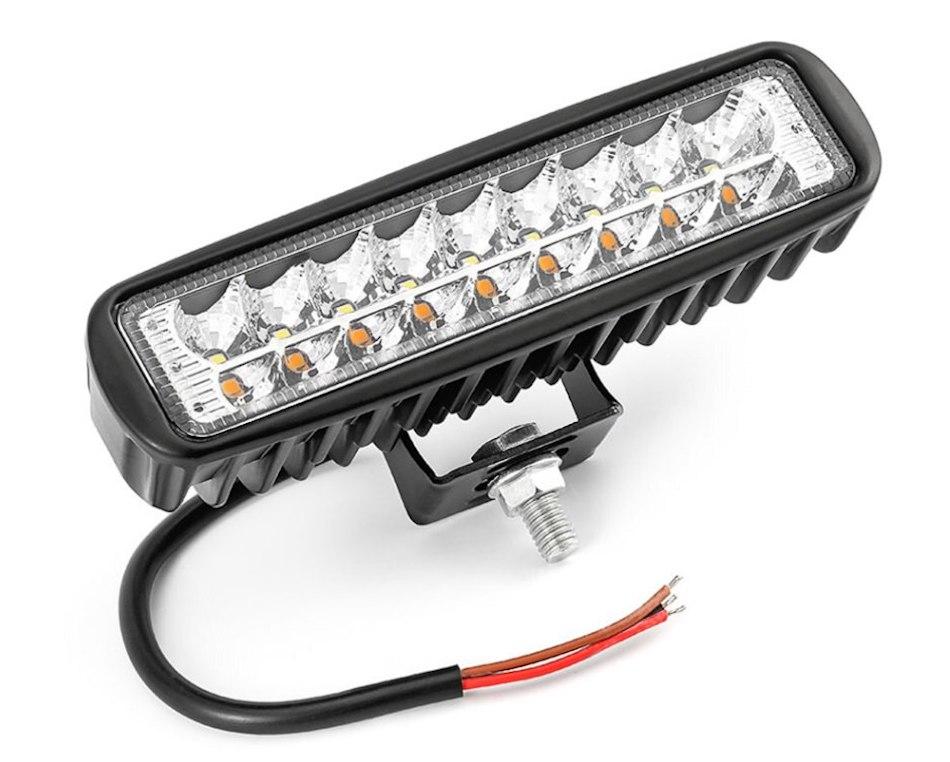 Светодиодная фара рабочего света 18 Вт (двух-цветная)