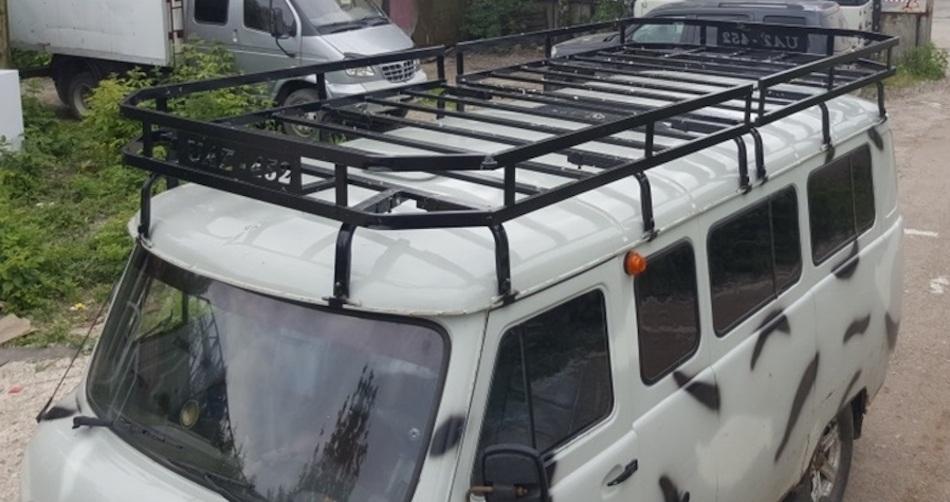 багажник на крышу УАЗ 452 с сеткой