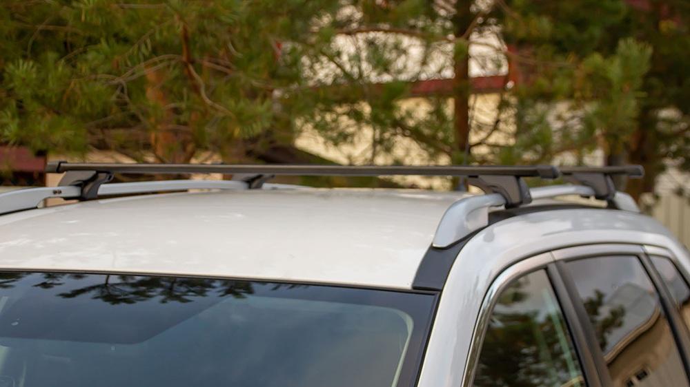 Багажник на крышу SUZUKI JIMNY IV 2019, с прямоугольными дугами, на водосток