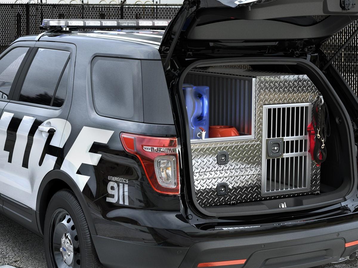 Багажник полицейской машины в США