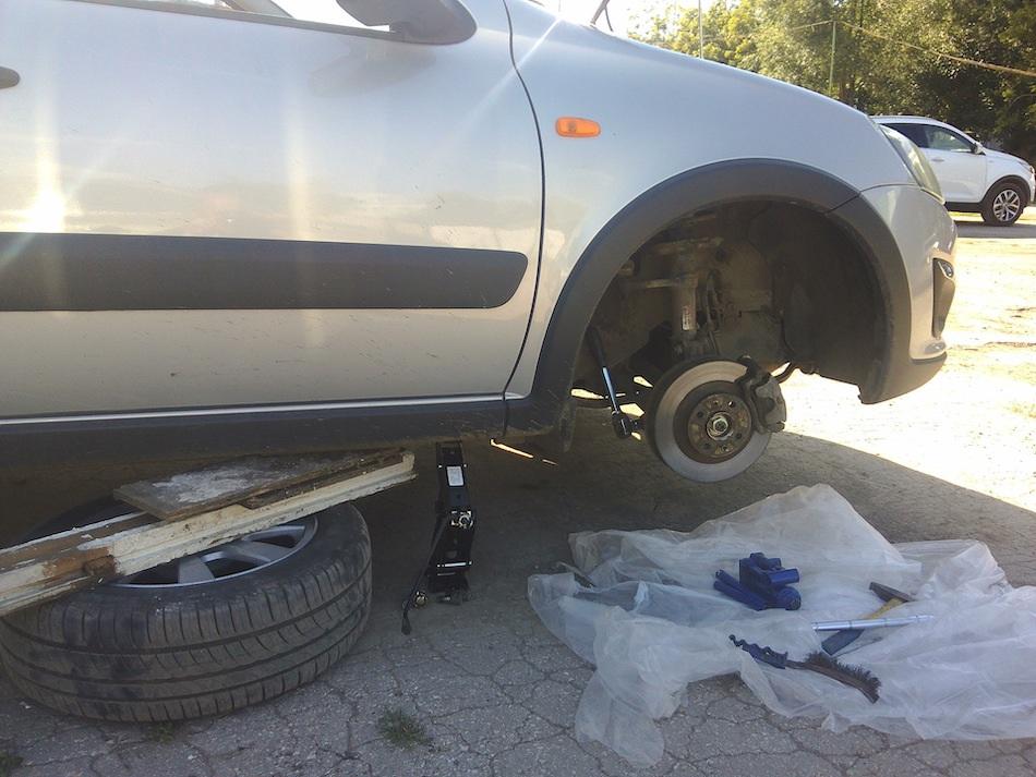 установка колес на лада гранта