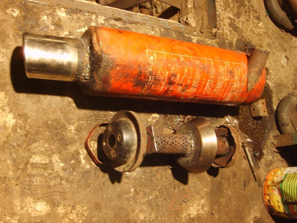 глушитель из огнетушителя