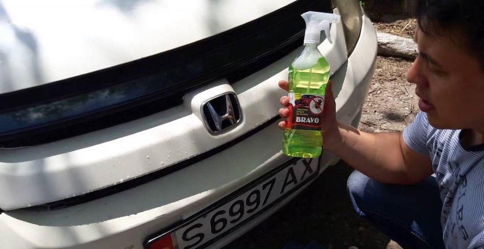Очистка бампера от мух
