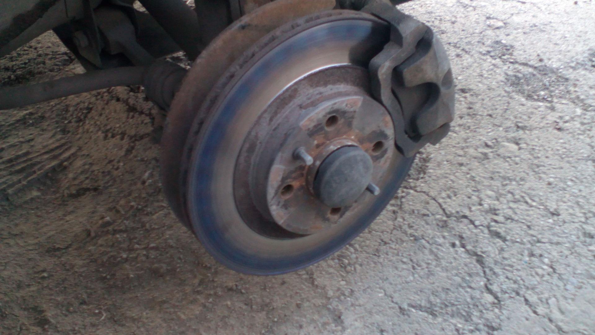 Перегретый тормозной диск