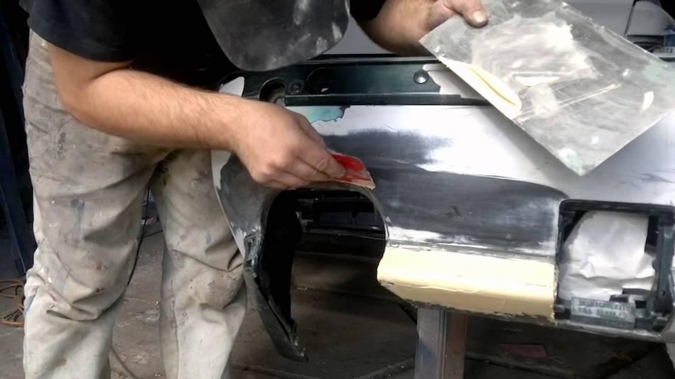 шпаклевка бампера авто