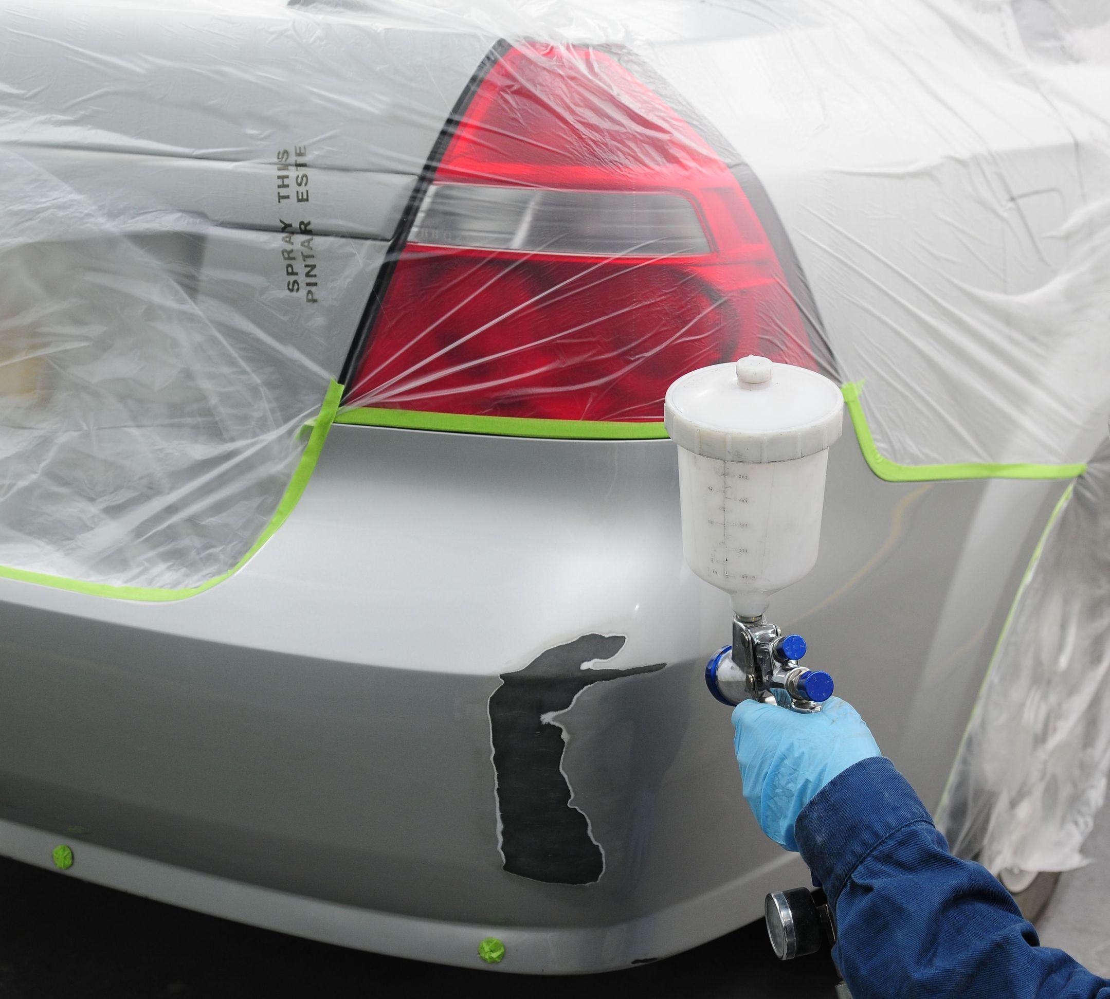Самостоятельная покраска бампера автомобиля