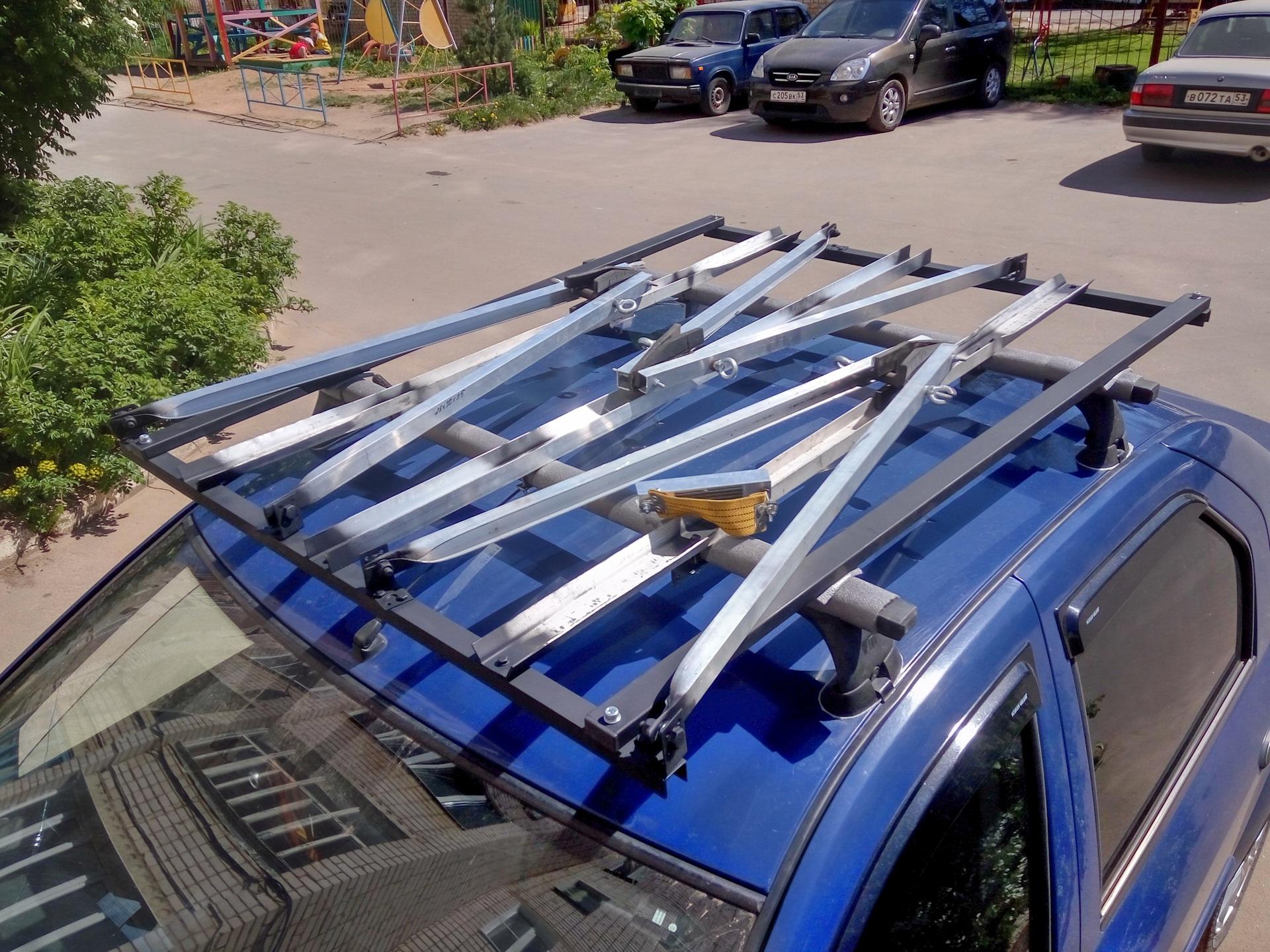 Велобагажник на крышу авто своими руками
