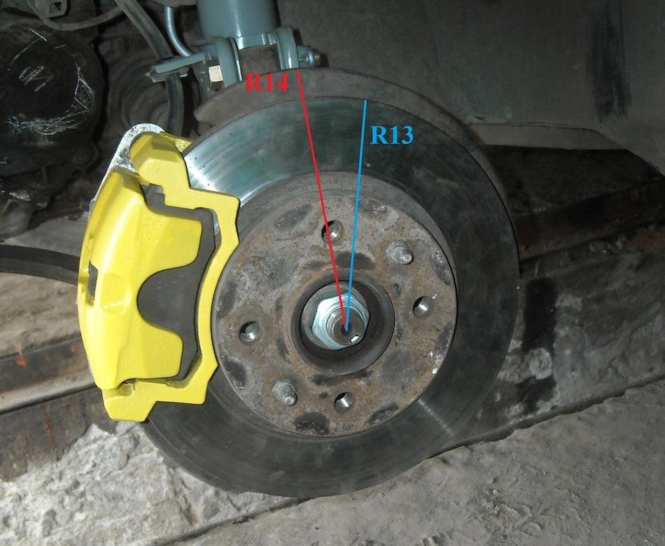 разные диаметры тормозных дисков