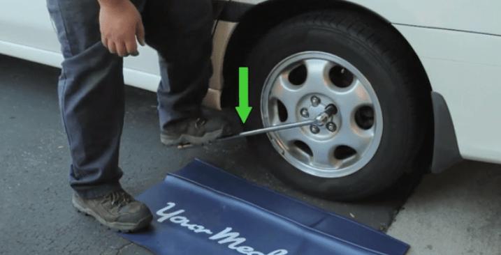 Затягивания колеса