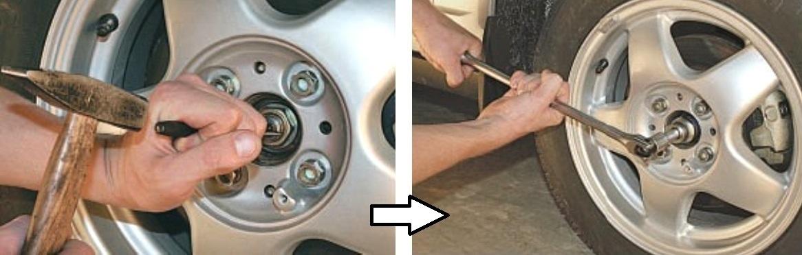 Затяжка болтов колес и гаек ступицы на Lada Granta