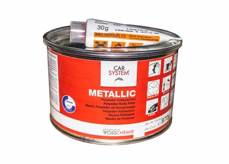 Шпатлевка CARSYSTEM Metallic полиэфирная с алюминиевым наполнителем