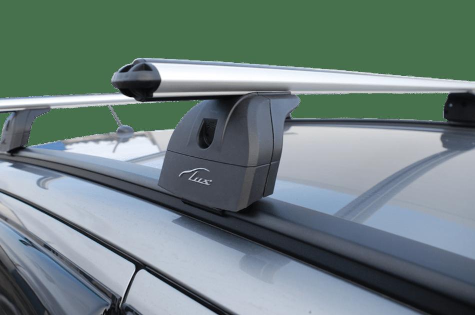 автобагажник Lux с аэродинамическими поперечинами на интегрированные рейлинги Mitsubishi Outlander III