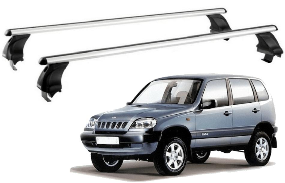 багажник с аэродинамическими поперечинами 1,3 м на Chevrolet Niva