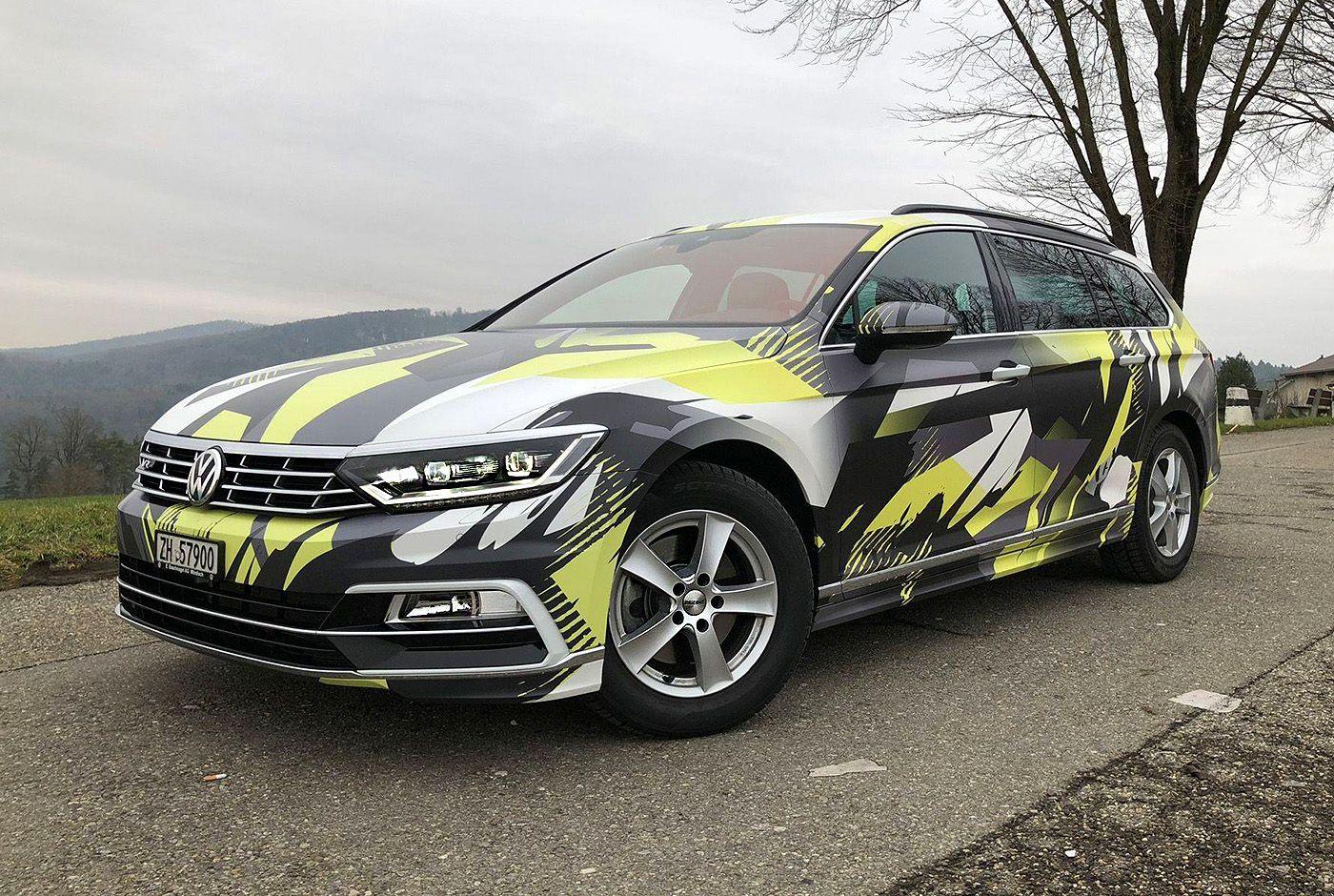 Городской камуфляж на автомобиле VW Passat