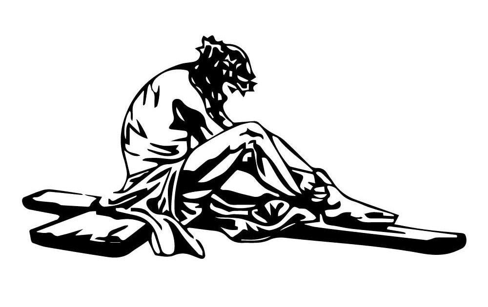 «Иисус Христос» - наклейка на авто