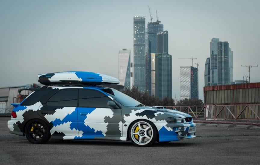 Камуфляж на автомобиле Subaru