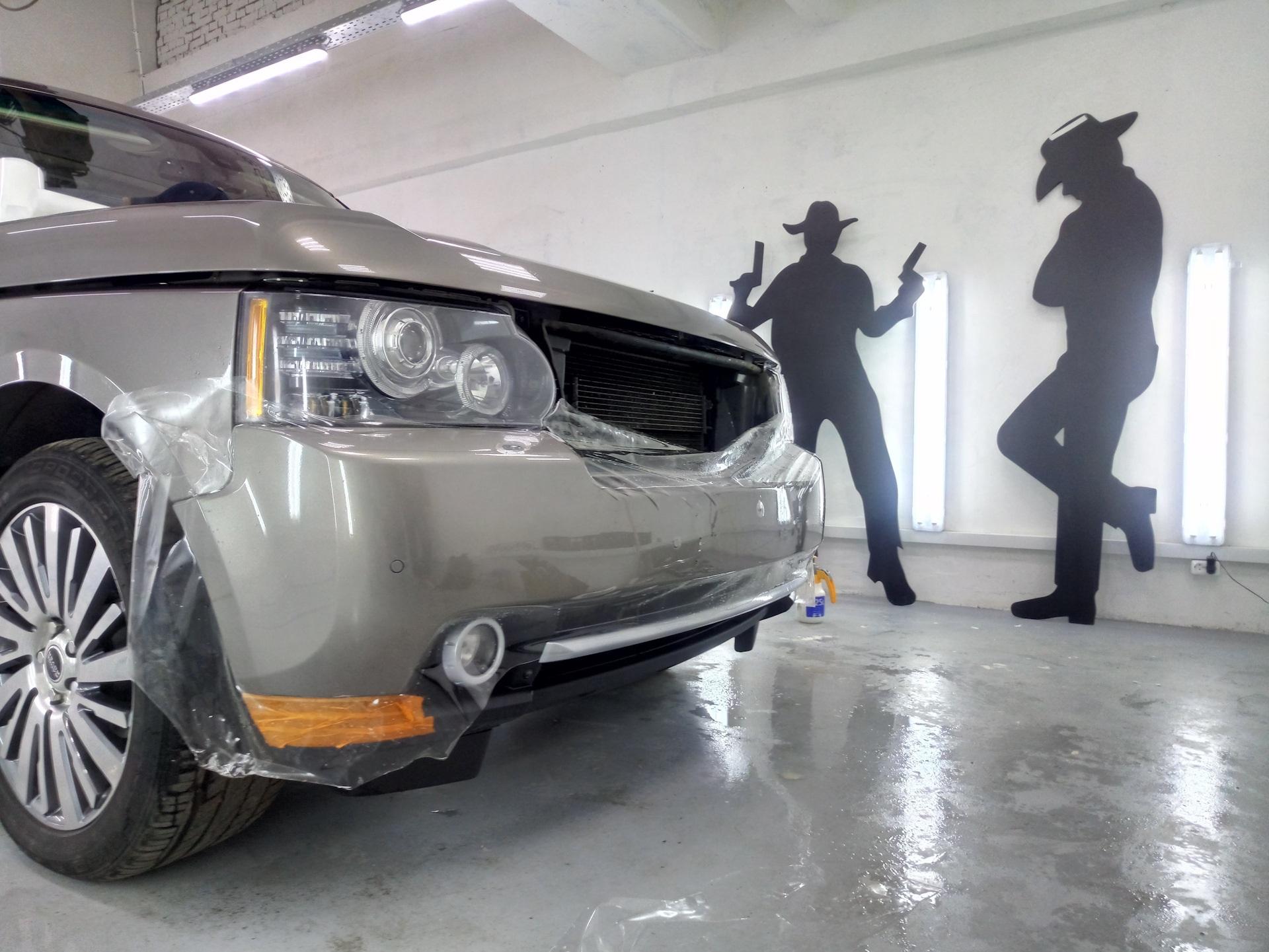 Керамическая пленка на автомобиле Рендж Ровер