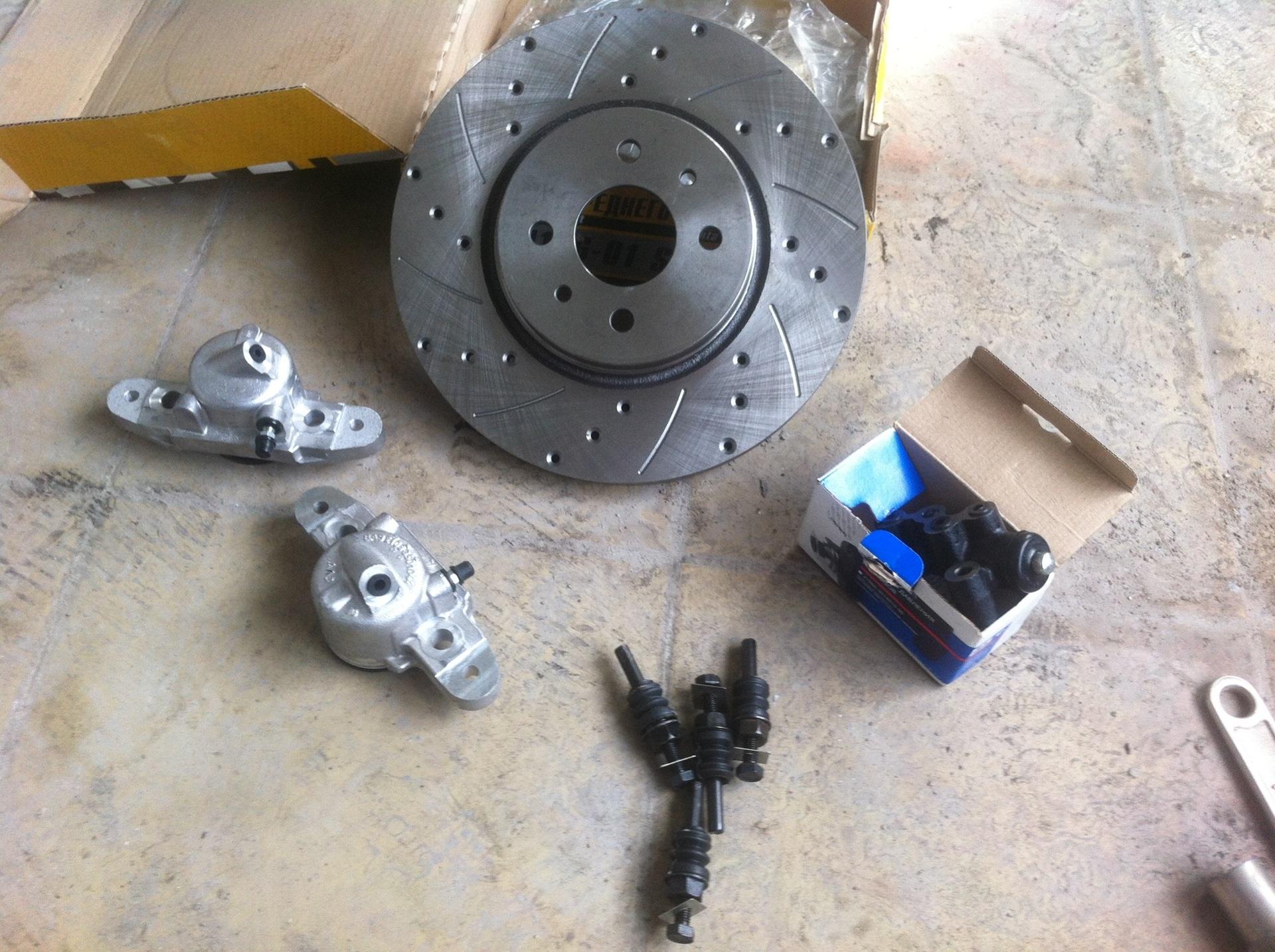 Комплект для замены тормозного диска Лада Калина