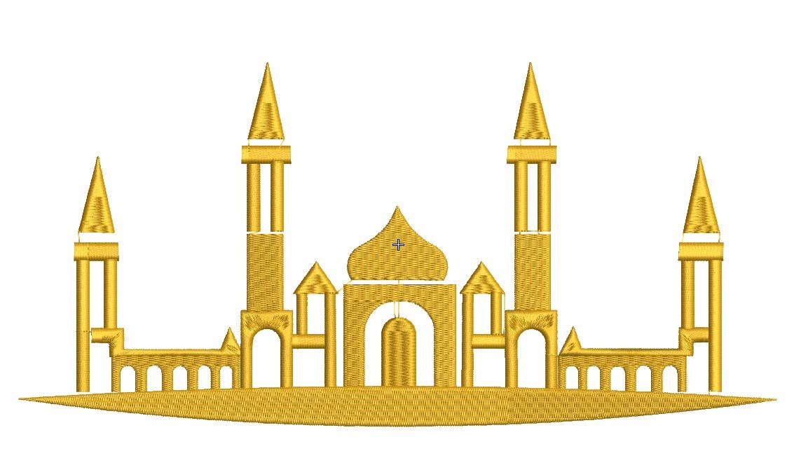 Мусульманская наклейка «Мечеть»