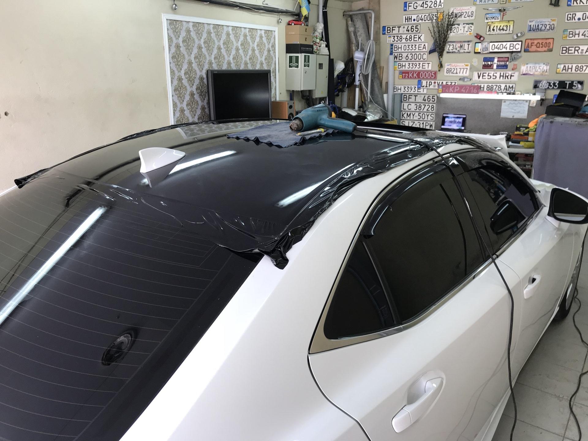 Черный глянец на Lexus IS250
