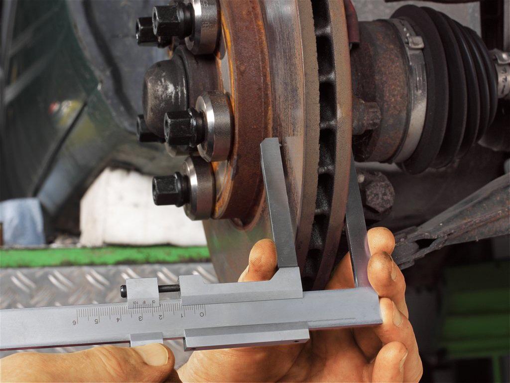 Оценка износа тормозных дисков самостоятельно