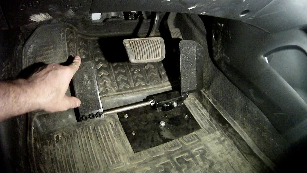 Перенос педали газа под левую ногу на машине с автоматом