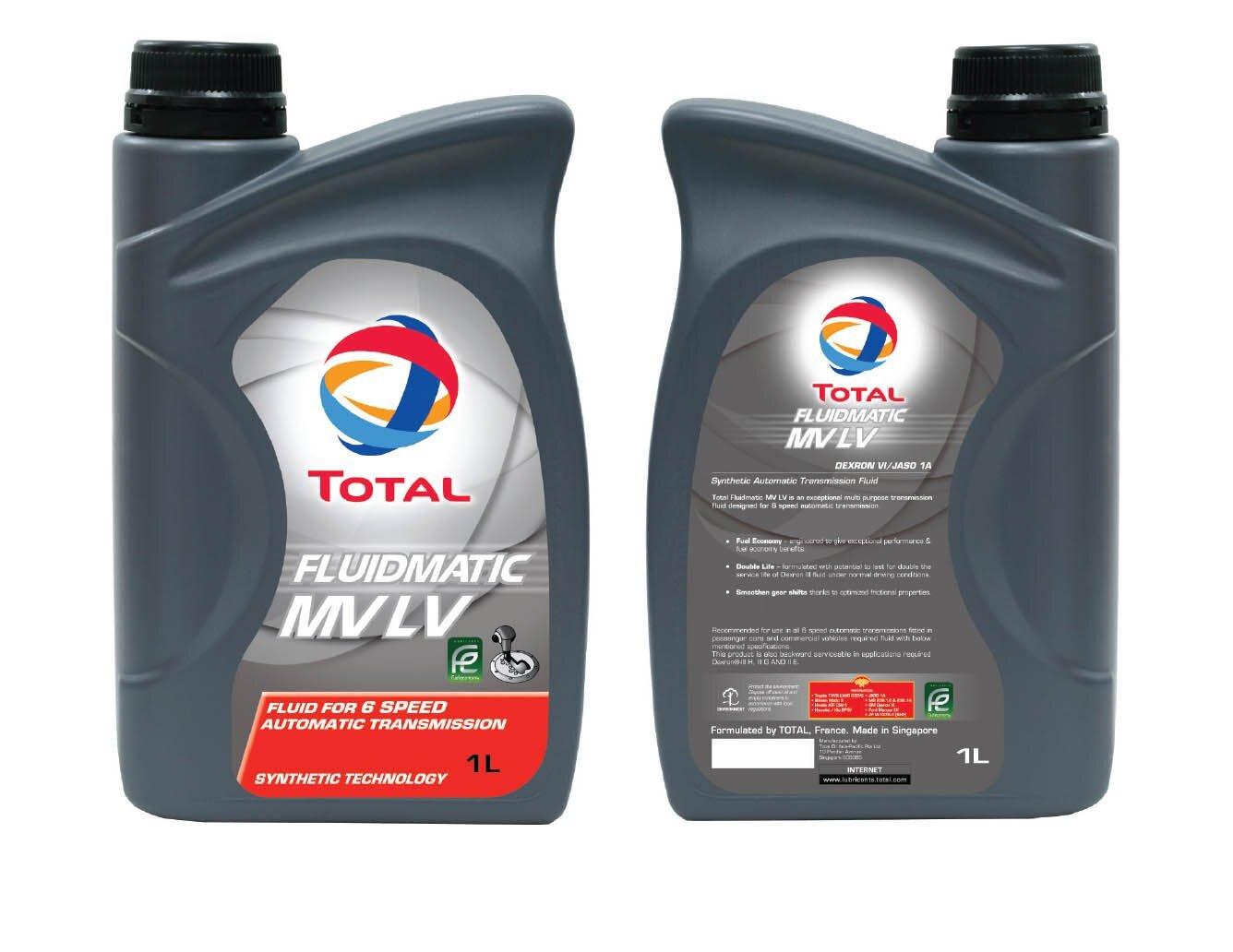 Трансмиссионное масло TOTAL Fluidmatic MV LV