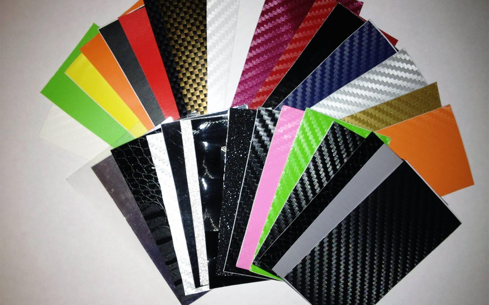 Цветовая палитра карбоновой пленки