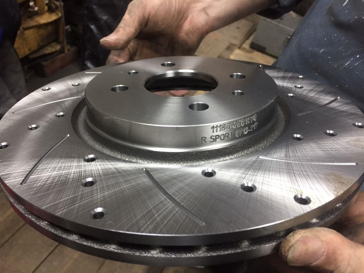 Вентилируемые тормозные диски на Лада Калина