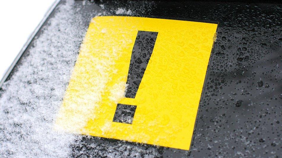 Знак самоклеящийся наружный «Начинающий водитель»