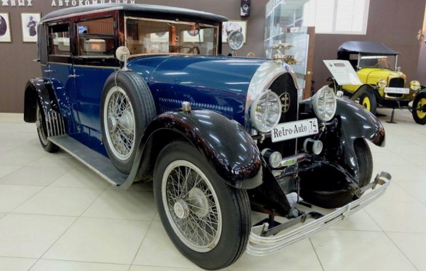 Автомобиль De Dietrich в музее ретро-авто г. Челябинск
